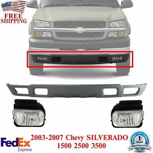 Front Lower Valance Fog Lights For 2003 2006 Silverado 1500 2500hd 3500hd