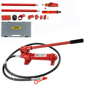 6 Ton Porta Power Hydraulic Jack Auto Body Frame Repair Kits Lift Ram 2 M Hose