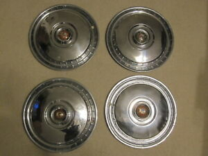 1955 1956 Ford 15 Hubcaps Crown Victoria Fairlane Wagon T Bird Free Shipping