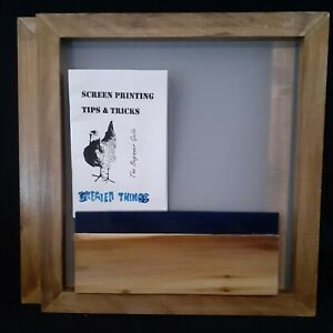 Screen Printing Frame 19 By 16 200 Mesh And Squeegee