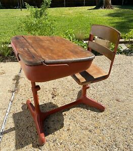 Vintage Child S School Desk Circa 1940 S Dallas Texas Local Pickup
