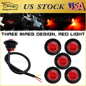 6x Trailer 3 4 Red Led Brake Lights 3 Wires Auxiliary Tail For Truck Motorcycle