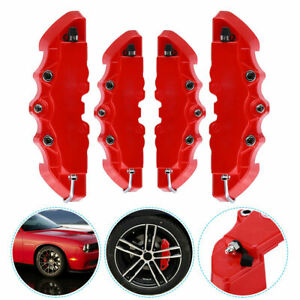 4x 3d Style Red Car Racing Disc Brake Caliper Covers M S Universal Accessories