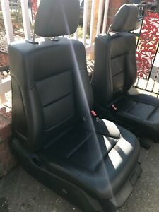 2011 W212 Mercedes E350 E550 Front Rear Seat Complete Set Black Leather