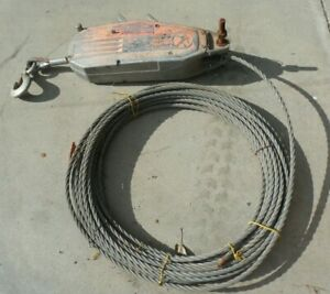 Tu32 Grip Hoist Manual Cable Hoist W Wire Rope And Handle