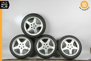 Mercedes R170 Slk230 Slk320 Amg Rim Wheel Set 7 5x17 8 5x17 Silver Staggered Oem