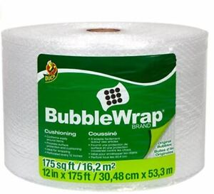 Duck Brand Bubble Wrap Roll Original Bubble Cushioning 12 X 175