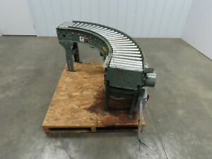 Hytrol 12 wide 90 Deg Curved Power Roller Live Roller Conveyor 1 2 Hp 67 Fpm