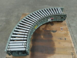 Hytrol 12 wide 90 Deg Curved Power Roller Live Roller Conveyor