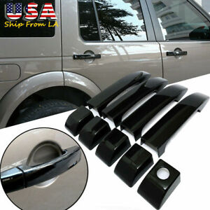 Glossy Black Abs Door Handle Cover For Land Rover Range Vogue L322 2002 2012