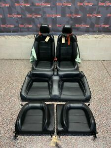 2019 Ford Mustang Gt Oem Black Leather Seats Front Rear Blown Bags