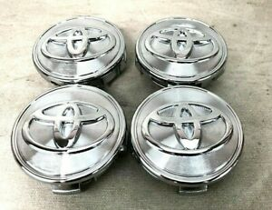 62mm 4x Silver Chrome Wheel Center Caps For Toyota Highlander Sienna Camry Prius