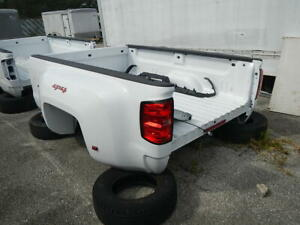 2015 2018 Chevy Silverado 8ft White Dually Bed W Lights No Gate Gmc Sierra