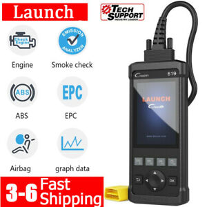 Automotive Obd Car Abs Srs Scanner Cr619 Code Reader Engine Obd2 Diagnostic Tool