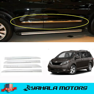 Door Body Side Molding Chrome Skirt Underline For Toyota 2011 2020 Sienna