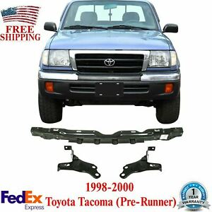 Front Bumper Reinforcement With Brackets Pair For 1998 2000 Toyota Tacoma