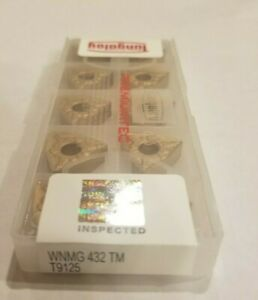 Wnmg432 Tm T9125 Tungaloy 10 Inserts New Usa Stock Wnmg150408 tm T9125