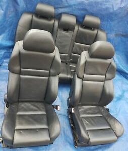 2006 2010 Bmw E60 M5 Oem Front M Sport Seats Rear Bench Black Merino Leather
