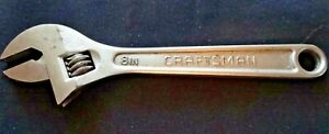 Craftsman Adjustable Wrench 8 Forged Usa 44603