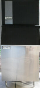 Large Ice o matic Commercial Ice Maker W Ice Bin Works Restaurant Bar Industrial