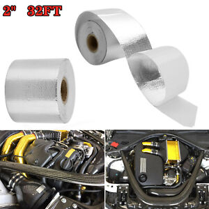 2 16ft Lava Titanium Basalt Exhaust Wrap Manifold Header Pipe Heat Wrap Us F4i8