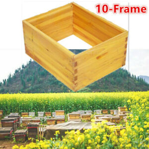 10 Frame Bee Hive Box Full Depth Dovetail Joint Boxes Usa