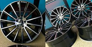 Mercedes 17 In Night Edition C63 Rims Wheels Set4 New Fits C300 C250 C300 Amg