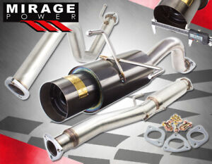 For 96 00 Honda Civic Ek 3 Door Cx Hatchback Catback Exhaust W 4 5 Muffler Tip