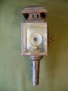 Unmarked V G Cond Brass Era Car Auto Lantern Side Lamp Horseless Carriage