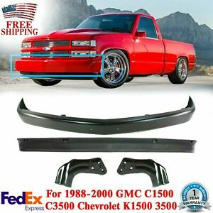 Front Bumper Primed Steel Lower Valance Brackets For 94 02 Gmc C1500 Chevy