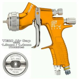 Devilbiss Gti Prolite Gold Te20 Spray Gun 1 3 1 4mm Tip