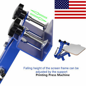 One Color Screen Printing Press Machine Silk Screening Pressing With 1 Station