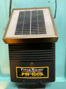 Power Wizard Solar Electric Fencer Pw100s For Parts Or Repair Shock Tech