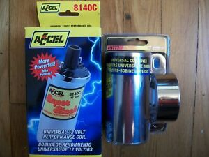Accel 8140c Chrome Super Stock Coil And Mr Gasket 9777 Chrome Coil Mount