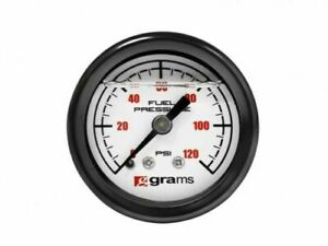Grams Fuel Pressure Gauge white Marshall 0 120 Psi Universal