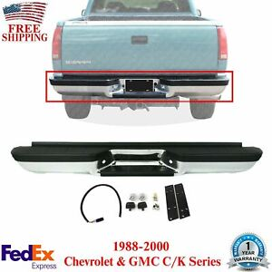 Step Bumper Assembly Chrome Fleetside For 1988 00 Chevrolet Gmc C k Series Truck