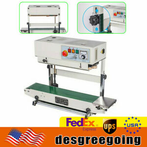 700w Automatic Continuous Band Sealer Vertical Bag Sealing Machine 6 15 Mm