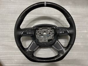 Custom Audi Carbon Fiber Steering Wheel
