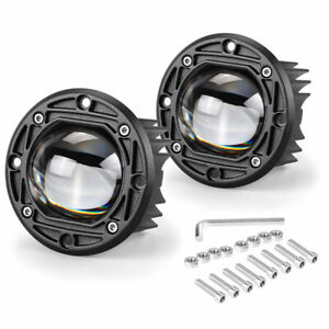 60w Yellow Led Work Light Bar Flush Mount Round 5inch Fog Driving Off Road 4wd