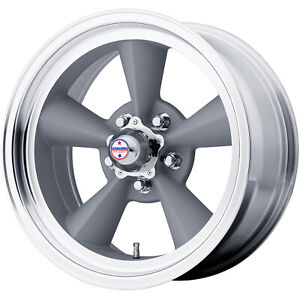 4 17x8 Gray American Racing Vintage Torq Thrust Wheel 5x4 5 5x114 3 0
