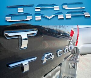 3d Tailgate Insert Letters Fits 2016 2020 Toyota Tacoma chrome