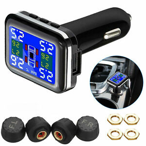 Tpms Lcd Wireless Tire Pressure Monitoring System With 4 External Sensors Kits