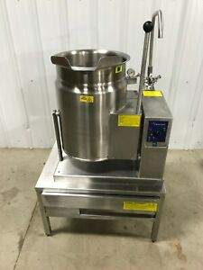 Cleveland Kgt 6 t 6 Gallon Gas Steam Jacketed Tilt Kettle With Table