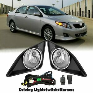 For Toyota Corolla 2009 2010 Front Bumper Fog Light Grille Wiring switch Kit