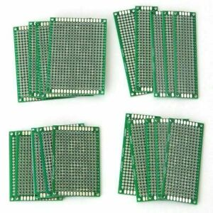 20x Double Side Pcb Strip Board Printed Circuit Prototype Track Protoboard 4size