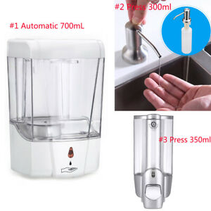 Automatic Liquid Soap Dispenser 700ml 350ml 300ml Sensor Wall Mount Sanitizer