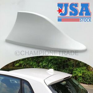 Us Shark Fin Roof Mount Fm Am Radio Signal Antenna Universal For Bmw White