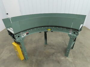 Hytrol 15 wide 90 Deg Curved Power Roller Live Roller Conveyor