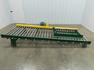 Powered Live Roller Case Pallet Skid Conveyor 40 x 10 208 230 460v 3ph 61 Fpm