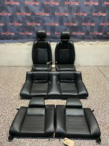 2013 Ford Mustang Gt Oem Black Leather Front Rear Seats Coupe